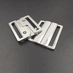 Bikinisluiting metaal zilver 20mm kliksluiting